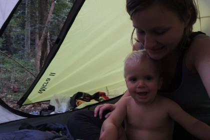 Zelten mit Kleinkind