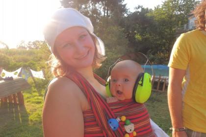 Festival mit Baby