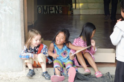 Philippinen mit Kind