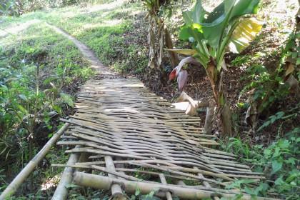 Sahai, Brücke aus Bambus