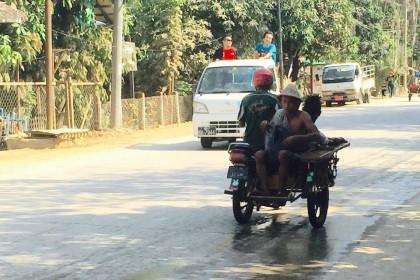 Myanmar mit Kleinkind