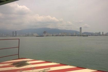 Fähre nach Penang, Aussicht